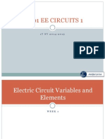 Electric Circuit Variables and Elements