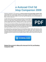 Manual de Autocad Civil 3d Land Desktop Companion 2009