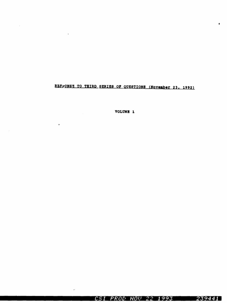 Church of Scientology, Nov. 23, 1992: Third Set of Responses to the ...