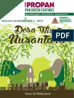 TOR Sayembara Desain Arsitektur Nusantara Propanraya