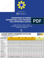 DOE Power Outlook 10302014 ILP