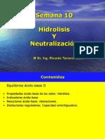 Clase 10 Neutralizagstcion Hidrolisis