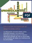 LA EDUCACIÓN INCLUSIVA EN EL SISTEMA EDUCATIVO