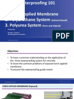 Waterproofing Membrane and PU