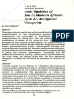 Traditional Systems of Communication in Modern African Development