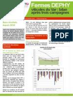 Bilan de l'action 2010 - 2013