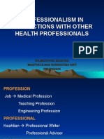 Professionalism in Interactions With Other Health Professionals