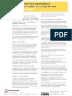 Information Sheet Safe Work Method Statement