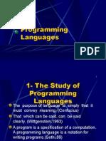 Programming Languages 1