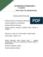 Curs 11 - Analiza Economico-financiara