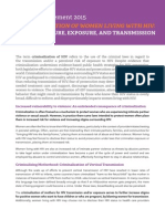 ICW Position Statement 2015 CRIMINALIZATION OF WOMEN LIVING WITH HIV
