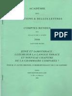 Zone et Samothrace