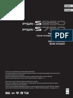 PSRs950 manual