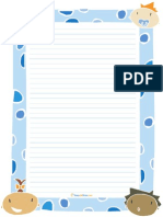 Writing Paper for Children's Classes
