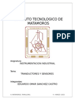Investigacion de Transductores y Sensores
