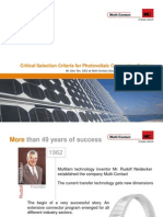 4 Critical Selection Criteria for Photovoltaic Connection System_2011