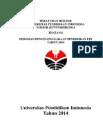 Pedoman Penyelenggaraan Pendidikan UPI 2014