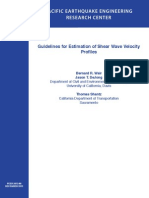 Guide Lines for Estimation of Shear Wave Velocity