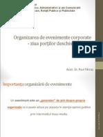 Organizarea de Evenimente - Studiu de Caz Ziua Porţilor D Eschise (1)
