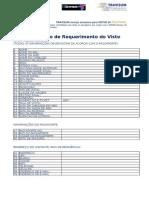 EAU Formulário de Requerimento Do Visto