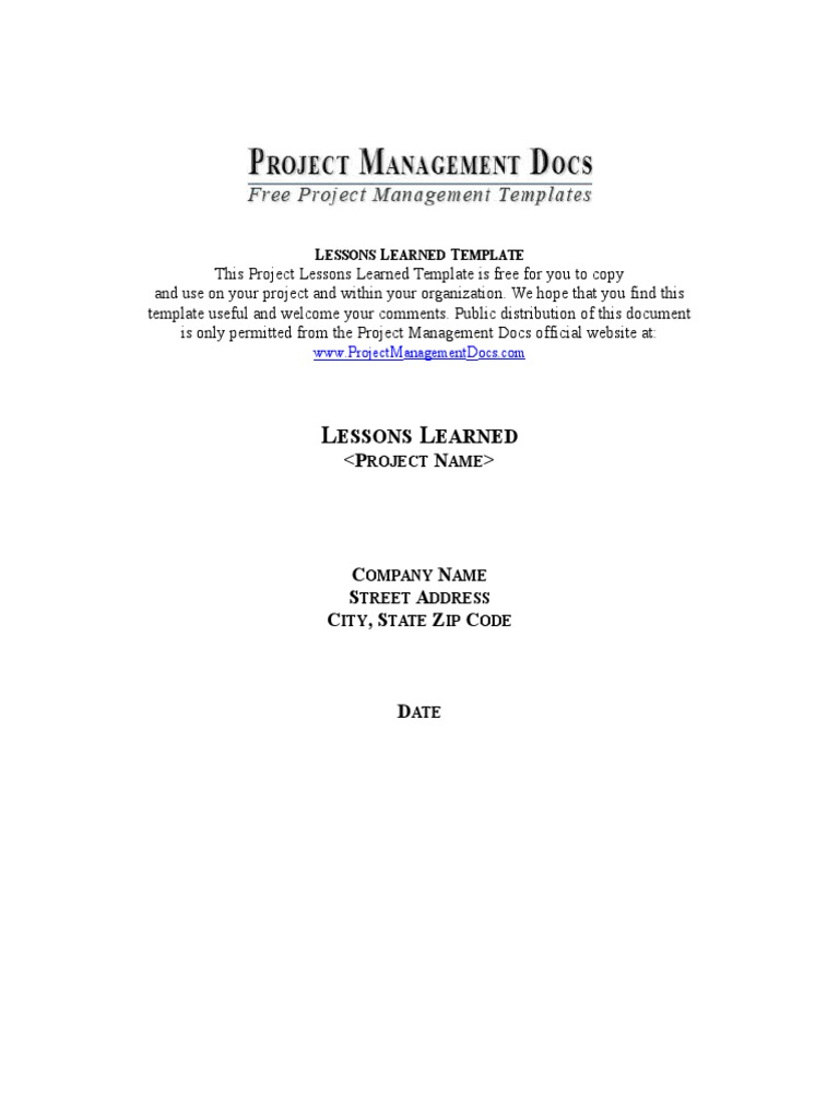 Project management lessons learned template project manager project management lessons learned template project manager project management pronofoot35fo Choice Image
