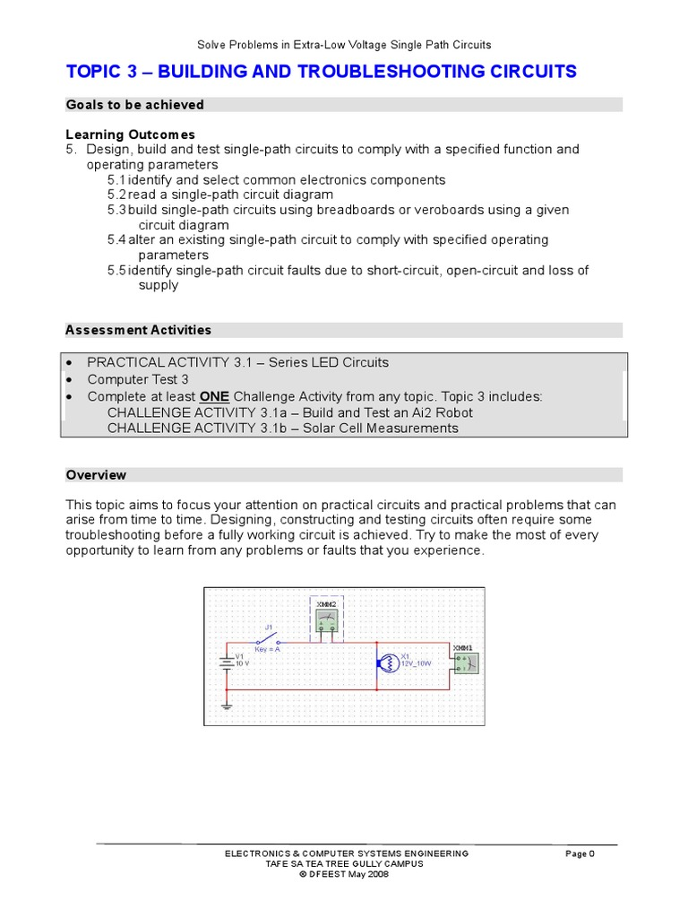 Topic 3 Solve Probs Exlovolt Ccts Series And Parallel Circuits Solar Cell Electric Current