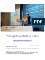 2015-03-27 Christoph Wonneberger - Friedenskonferenz in Seoul