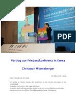 2015-03-27 Christoph Wonneberger - Friedenskonferenz in Seoul