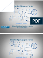 Interactive digital signage presentation