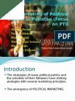 Marketing of Political Parties in Pakistan..PTI in focus