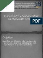 Cuidados Pre y Post Operatorios en El Paciente