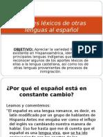 Aportes Lxicos de Otras Lenguas Al Espaol Actividad 0