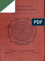 Hymn to Kali Karpuradi Stotra 1953. Ganesh & Co - Arthur Avalon_Part1