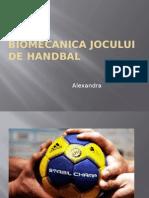 Biomecanica Jocului de Handbal