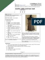 64romantic Cable Lace Vest Patt