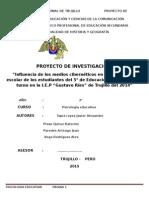 Proyecto de Investigacion Avance 01