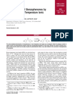 Photoreduction of Benzophenones by Amines in Room-Temperature Ionic Liquids