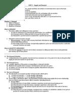Unit II Content Outline