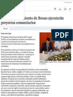 IDDI y Ayuntamiento de Bonao ejecutarán proyectos comunitarios