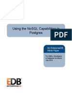 Using the NoSQL Capabilities in Postgres