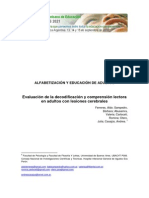 Decodificación y Comprensión Lectores en Lesión Cerebral - Ferreres