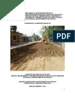 7. Informe Mensual No 07 de Interventoria - Febrero 2014