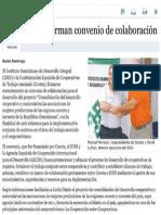 IDDI y COCETA firman convenio de colaboración