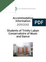 Accommodation Information Pack 2011-2012 Trinity