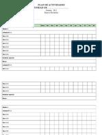 Formulario Plan de Actividades 2015