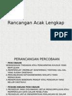 3a. Rancangan Acak Lengkap (Ulangan Sama)