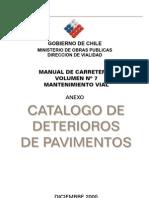 Catalogo de Deterioros - Direccion de Vialidad