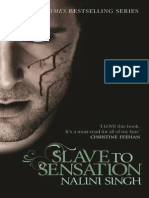 Slave to Sensation by Nalini Singh Extract With Cover
