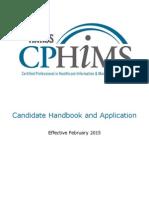 CPHIMS Handbook 2015-02