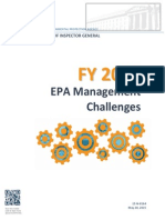 FY 2015 EPA Management Challenges